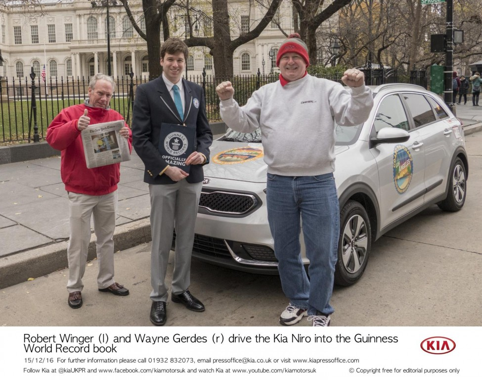 KIA NIRO SETS GUINNESS WORLD RECORDS™ TITLE FOR LOWEST FUEL CONSUMPTION BY A HYBRID VEHICLE