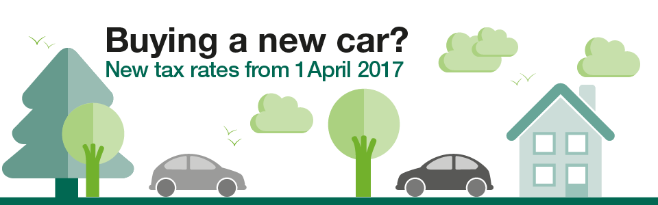 Road Tax increases for new cars from 1 April 2017