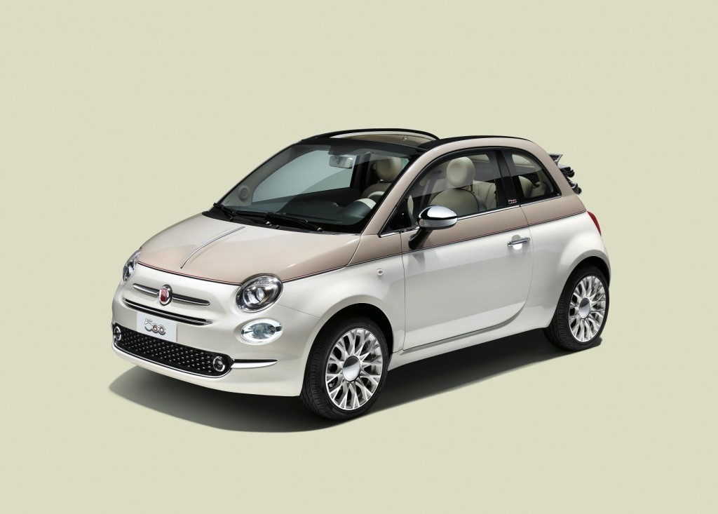 Limited edition convertible celebrates the 60th anniversary of the Fiat 500