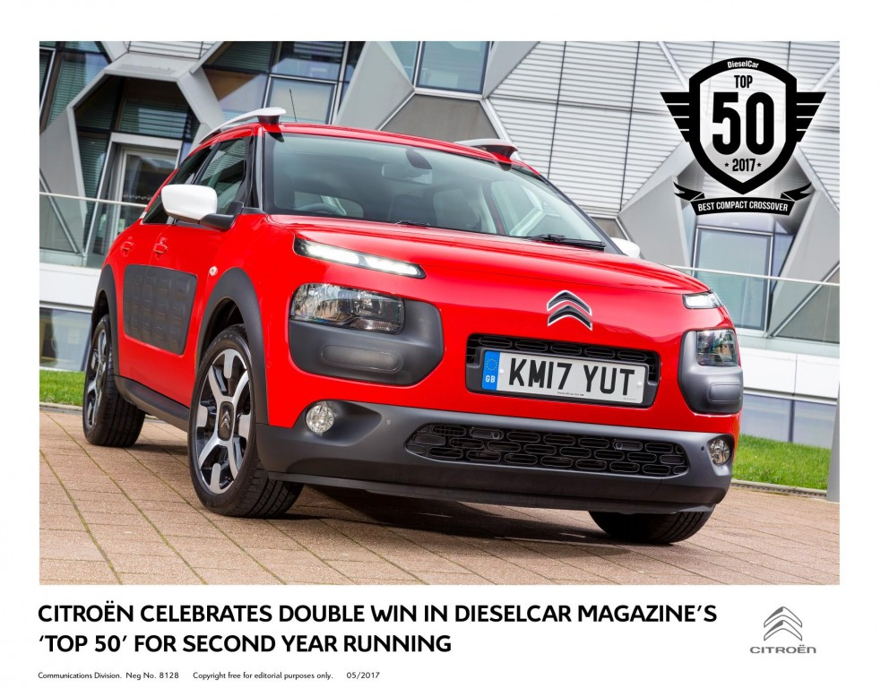 CITROËN CELEBRATES DOUBLE WIN IN DIESELCAR MAGAZINE'S 'TOP 50' FOR SECOND YEAR RUNNING