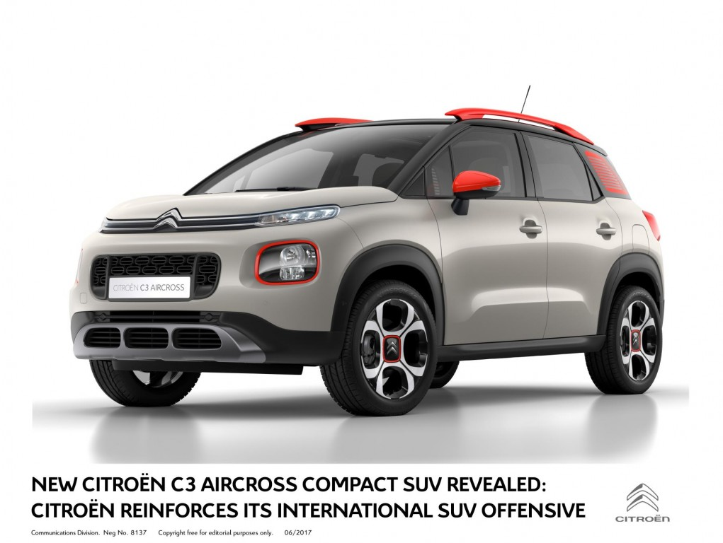 NEW CITROËN C3 AIRCROSS COMPACT SUV REVEALED: CITROËN REINFORCES ITS INTERNATIONAL SUV OFFENSIVE