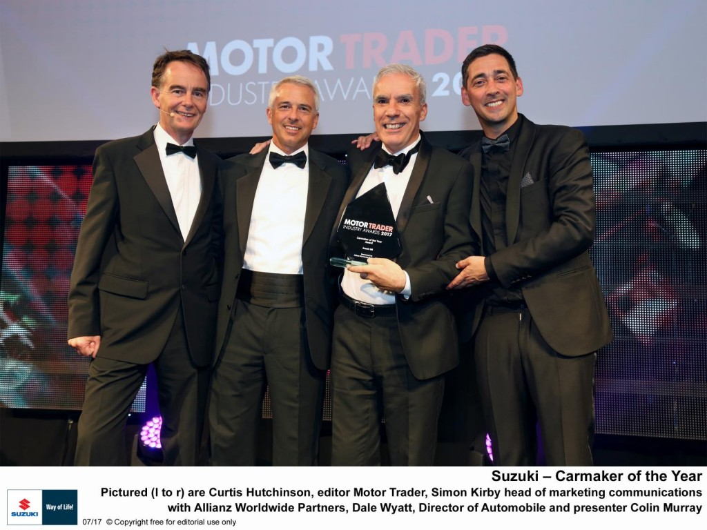MOTOR TRADER AWARDS 2017 - SUZUKI NAMED AS CARMAKER OF THE YEAR