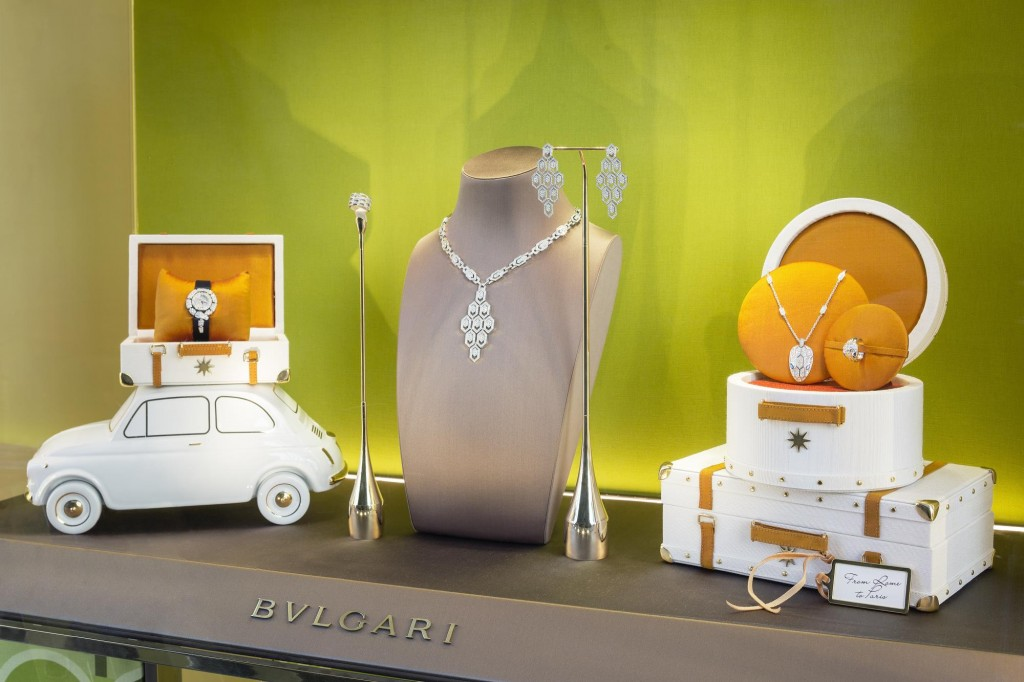BULGARI JEWELLERY TAKES A TRIP IN THE FIAT 500