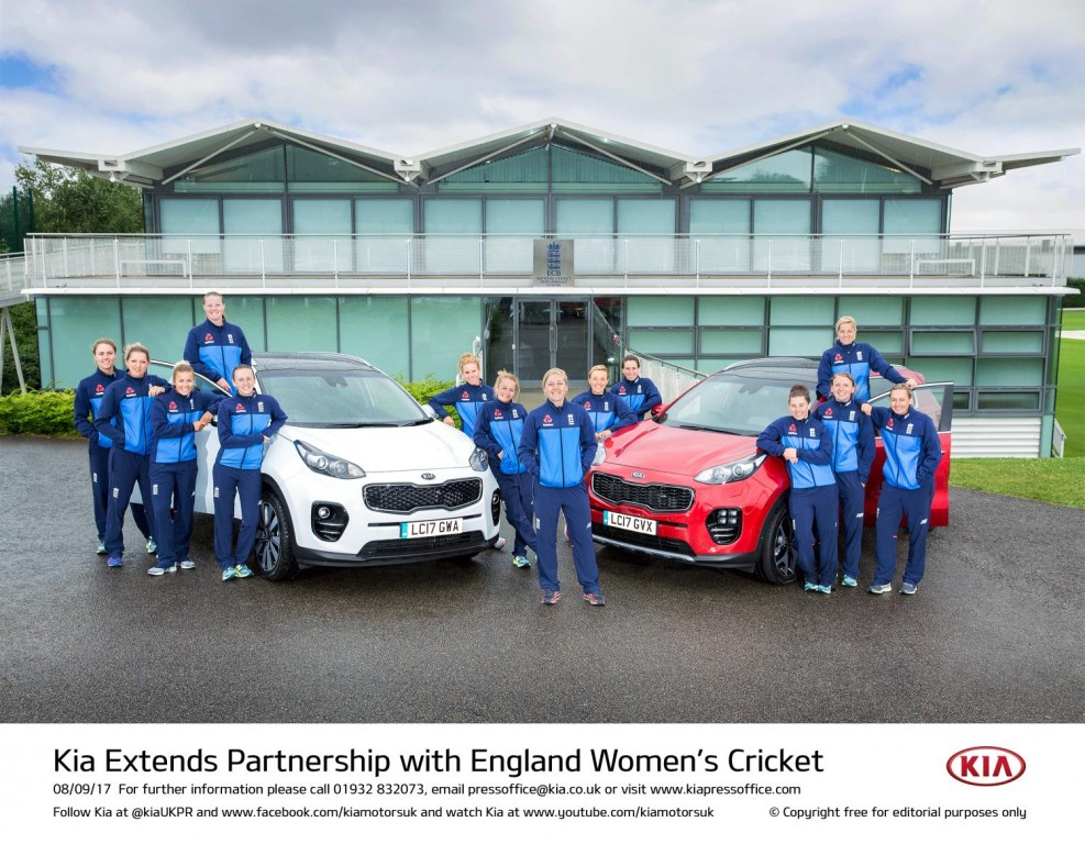 KIA EXTENDS PARTNERSHIP WITH ENGLAND WOMEN'S CRICKET