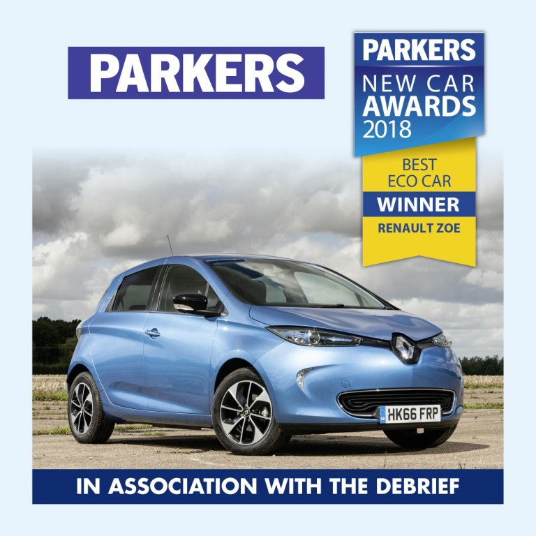 RENAULT ZOE WINS PARKERS ECO CAR OF THE YEAR 2018