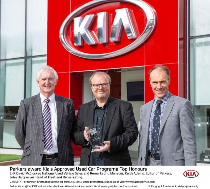 PARKERS AWARD KIA'S APPROVED USED CAR PROGRAME TOP HONOURS
