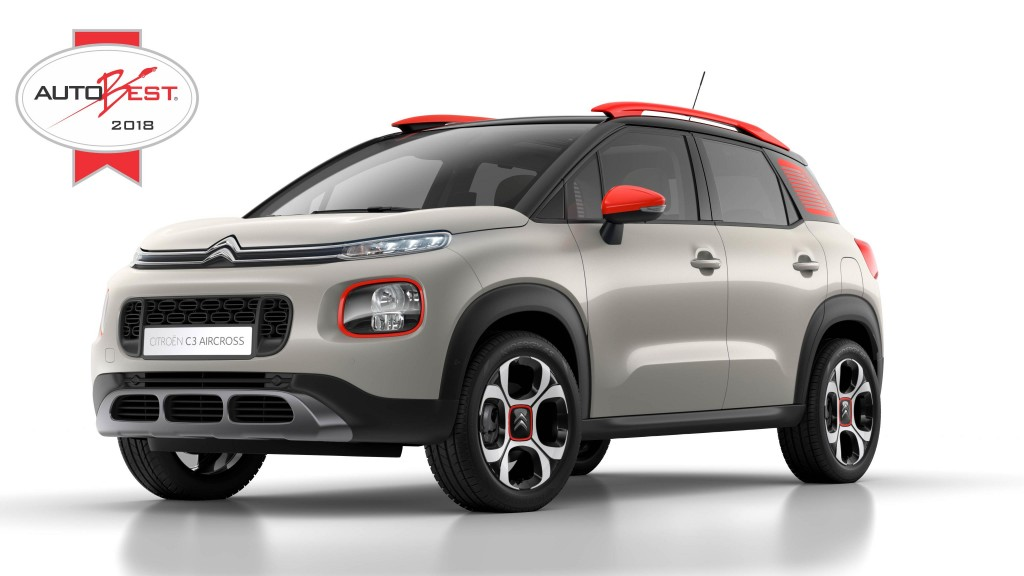 NEW CITROËN C3 AIRCROSS COMPACT SUV WINS 2018 AUTOBEST AWARD