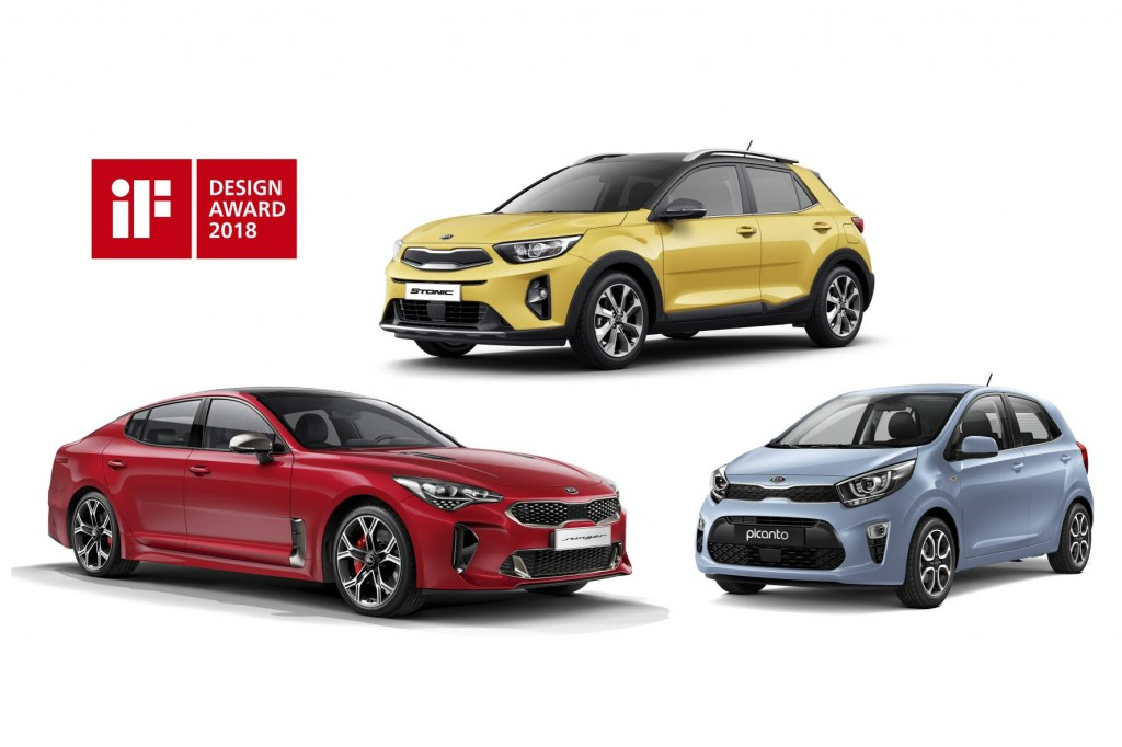 THREE TROPHIES FOR KIA AT THE 2018 iF DESIGN AWARDS