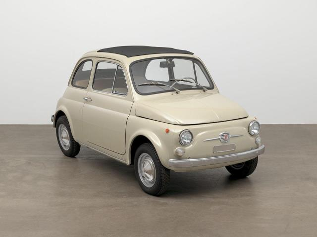 FIAT 500 ON DISPLAY AT MUSEUM OF MODERN ART IN NEW YORK AS PART OF THE VALUE OF GOOD DESIGN EXHIBITION